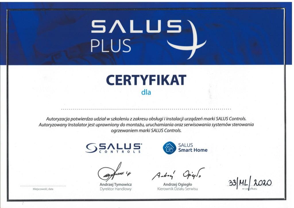 Certyfikat Salus Plus