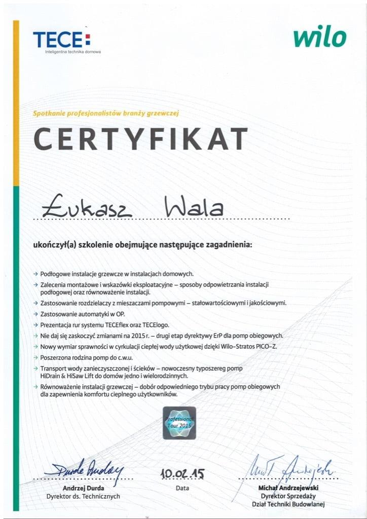 Certyfikat TECE